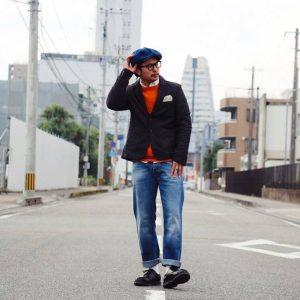 31 Fade Baggy Blue Jeans & Black Blazer