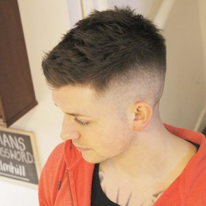 32 High Bald Fade with Textured Top