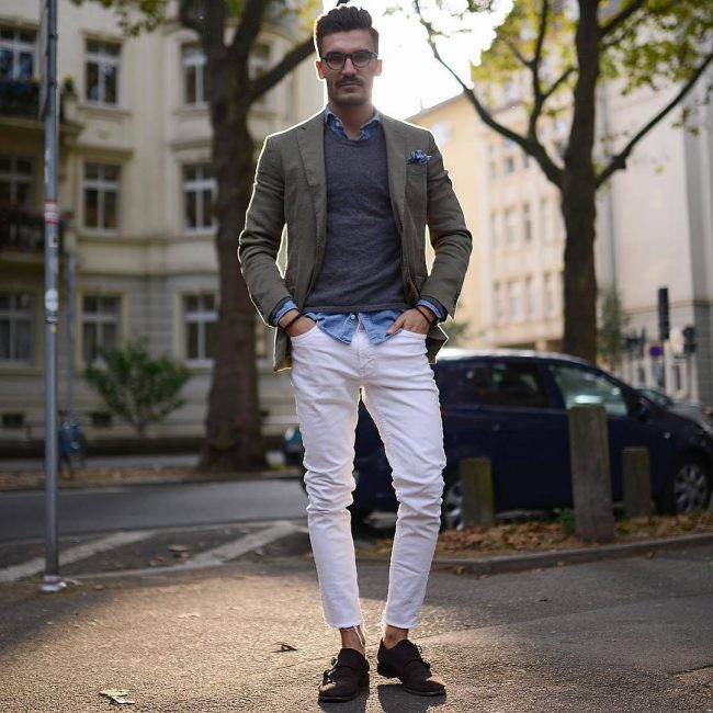 32-white-jeans-pants-with-green-blazer