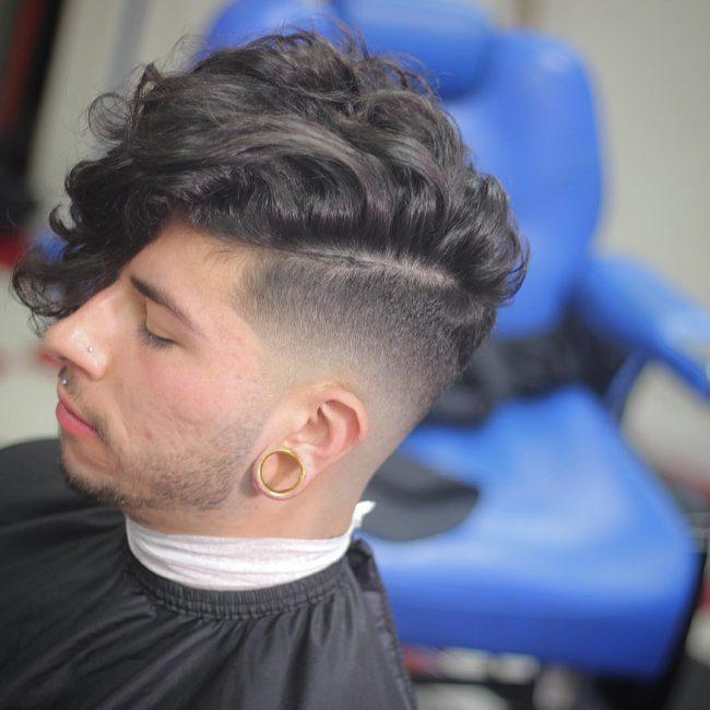 34 Black Curly Waves