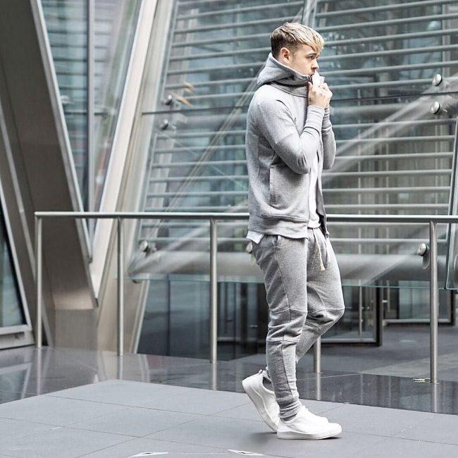 34 Grey Hoodie Joggers Suit