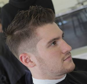 34 Rugged and Taper Faded Faux Hawk