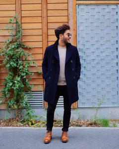 35 Black Skinny Jeans with a Designer Coat