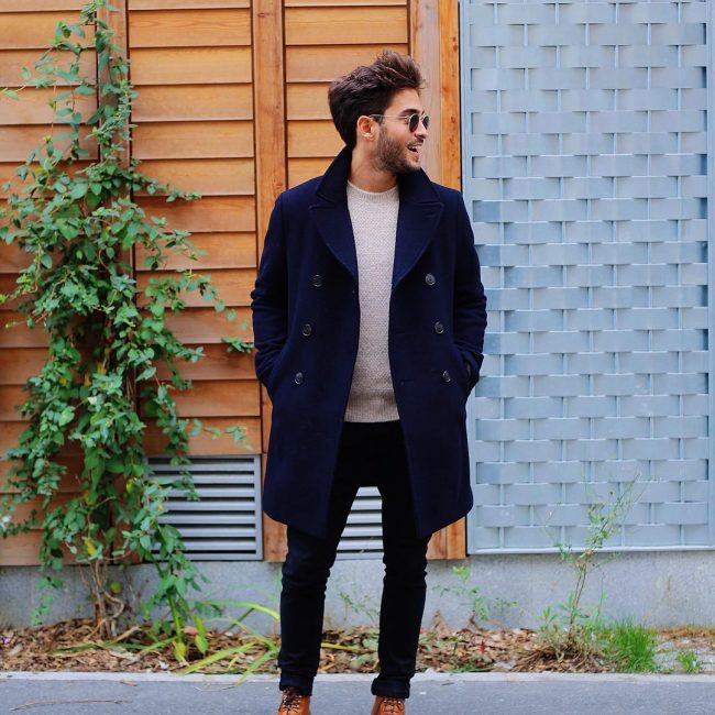 35 Black Skinny Jeans with a Designer Coat