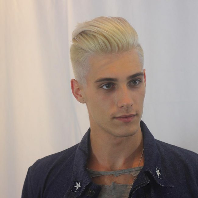 35 Blonde Pompadour Haircut