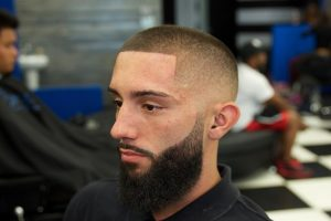 38 Clean Short Haircut with Styled Beard