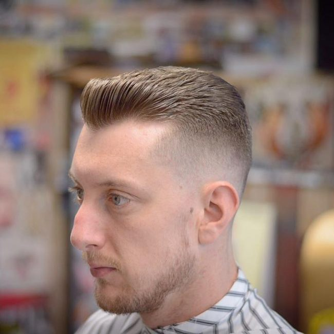 38 Layered and Tapered Brush Back Cut