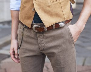 4 Casual Waist Coat With Brown Belt