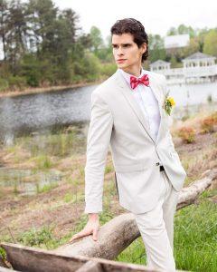 4 Cream White Suit