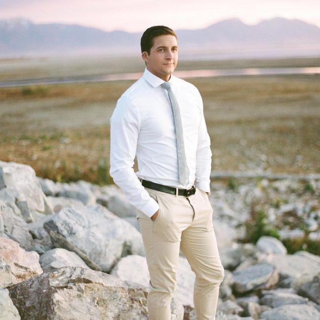 4 Grey Skinny Tie