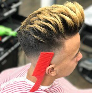 4 Light blond highlight & Undercut