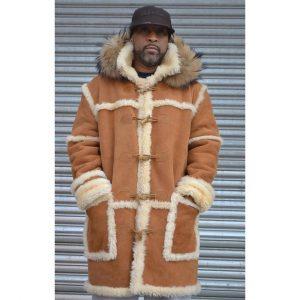 4 Orange & Brown Fur Jacket