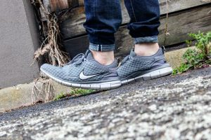 4 Pin Roll with Cool Grey Nike Sneakers