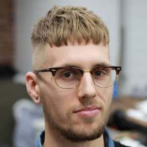 42 Cropped Fringe with High Skin Fade