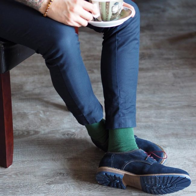 5 Blue Ankle Height Boots & Matching Slim Fit Blue Pants