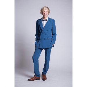 5 Dodger Blue Suit & Brown Leather Shoes
