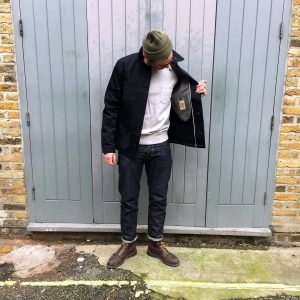 5 Dry Black Selvage Jeans & Selvage Black Jacket