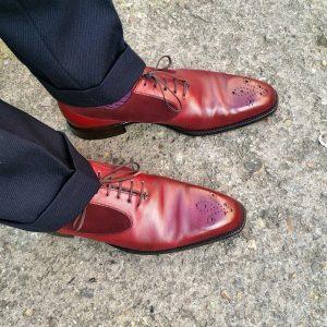 5 Faint Checked Suit Trousers