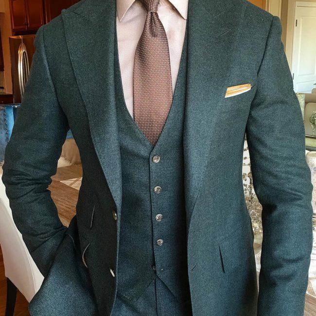 5 Slim Fit Evergreen 3-Piece Suit