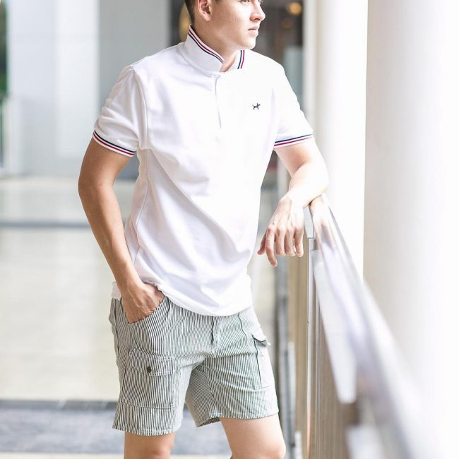 5-striped-collar-and-sleeve-polo-with-stylish-short