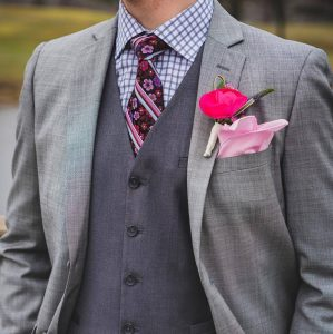 5 Three Piece Suit With Checked Shirt
