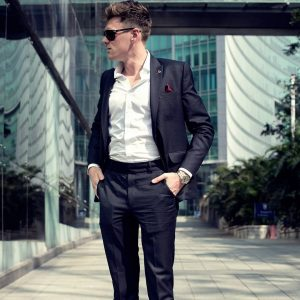 6 Navy Blue Suit