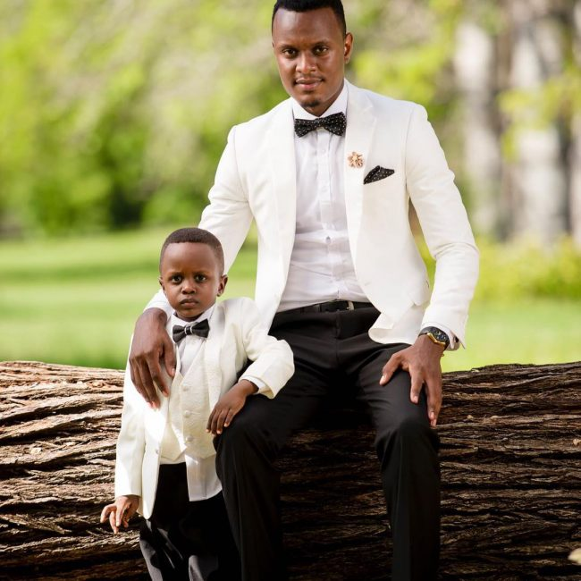 6 White Blazer with Black Trousers