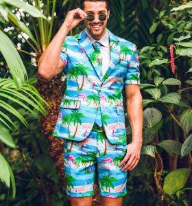 7 A Flamingo Shorts Suit