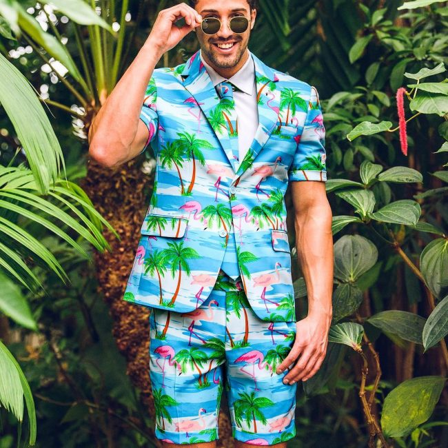 7 A Flamingo Shorts Suit