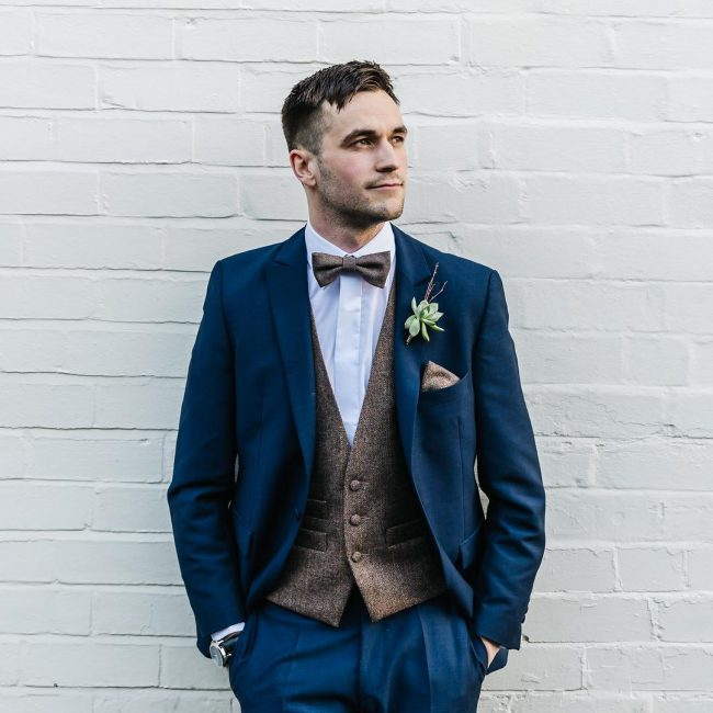 7 Clashed Blue 3-Piece Suit