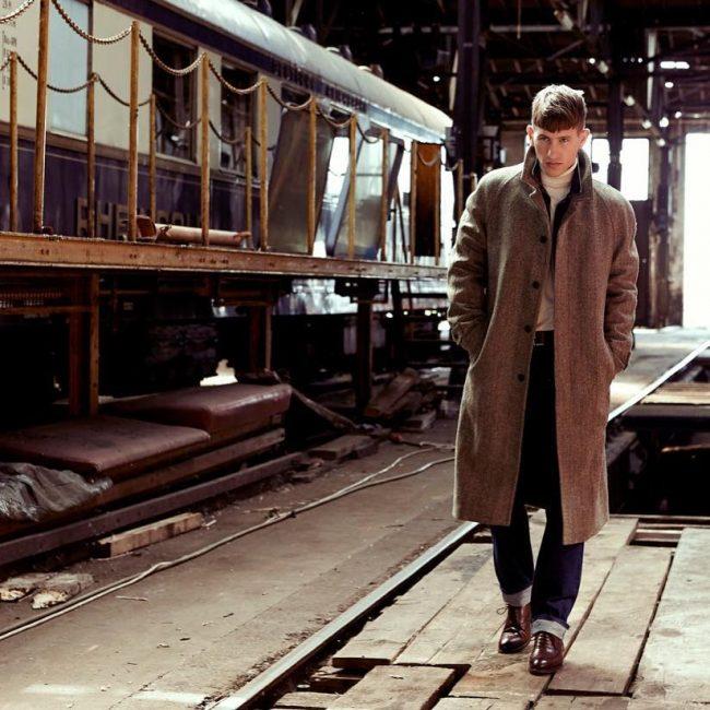 7 Long Brown Coat & Blue Jeans