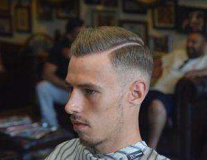 7 Parted Pomp Haircut