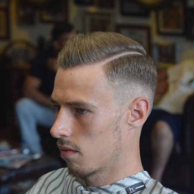 7 Parted Pomp Haircut