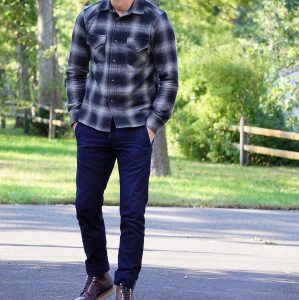 7 Vintage Plaid Flannel Shirt With Jeans