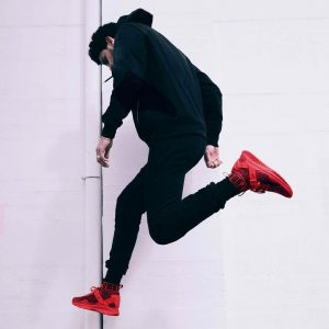 8 All Black Style and Red Shoes