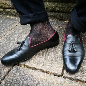 8 Black Styled Loafers & Black Pants