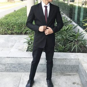 8 Black Suit With A Cool Tie