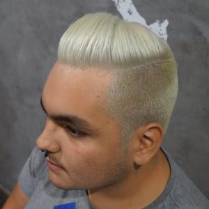 8 Complete Blond With A Side Wave