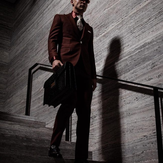 8 Cool Maroon Continental Suit