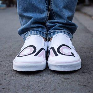 8 Eccentric Prints on White Shoes