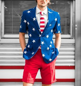 8 Stars and Stripes Shorts Suit