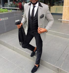 8 Three Piece Suit in White and Black