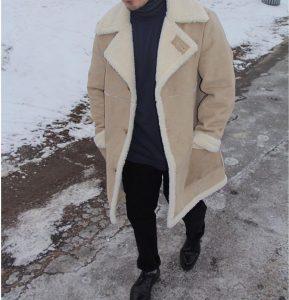 8 Woollen Cozy Beige Coat