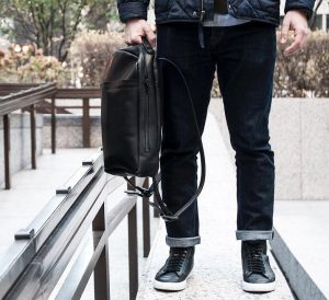 9 Black Backpack & Fitting Blue Jeans Pants