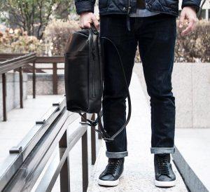 9 Black Backpack & Fitting Blue Jeans Pants
