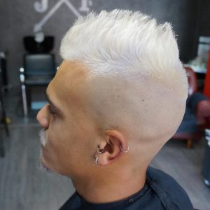 9 Blond Blow Up Undercut Style