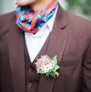 9 Brown Suit With A Scarf