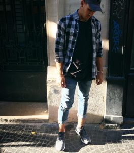 9 Check Shirt and Trainers