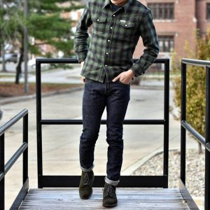 9 Green Flannel and Denim