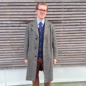 9 Long Grey Coat & Fitting Brown Pants